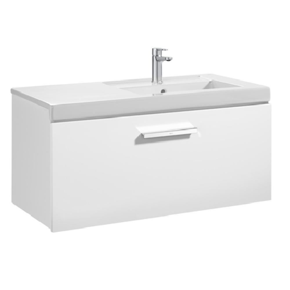PRISMA UNIK Мебел за баня 900 mm с 1 чекмедже и умивалник в дясно, бял