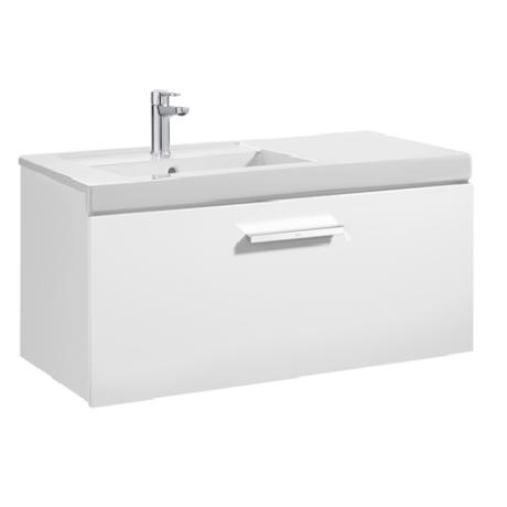 PRISMA UNIK  Мебел за баня 1100 mm с 1 чекмедже и умивалник в ляво, бял