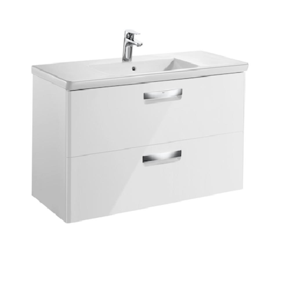 Мебел с умивалник THE GAP 100 см в бял гланц