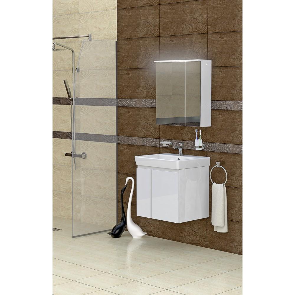 Комплект мебел и шкаф за баня MN 55 см