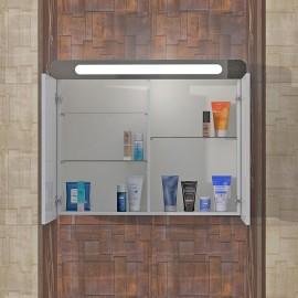Горен шкаф за баня с огледало MC 80 см