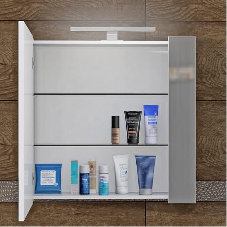 Шкаф за баня с огледало TN и LED осветление 60 см