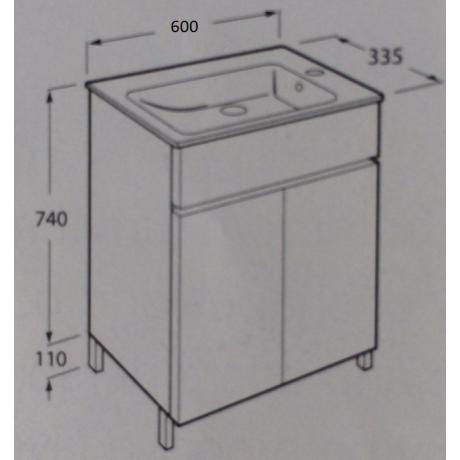 CUBE COMPACT мебел с две врати 60 x 34