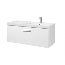 PRISMA UNIK  Мебел 1100 mm с 1 чекмедже и умивалник в дясно, бял