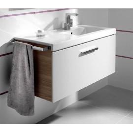 PRISMA UNIK Мебел 900 mm с 1 чекмедже и умивалник в дясно, бял/пепел