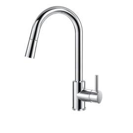 BS02 Стоящ смесител за кухня с изтеглящ се душ