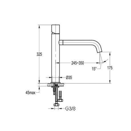 BS04 Стоящ смесител за кухня със сензорно управление