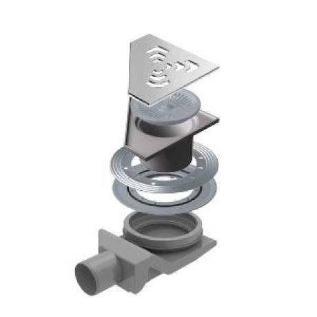 CONFLUO Angle 2 20x20 cm Ъглов сифон за под с воден затвор