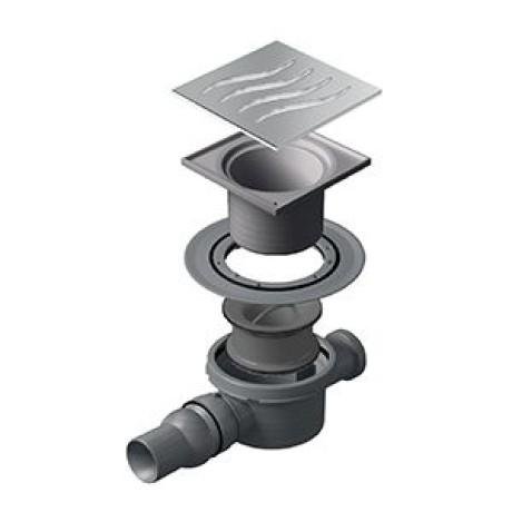 CONFLUO Dry 1 15x15 cm Квадратен сифон за под с воден затвор