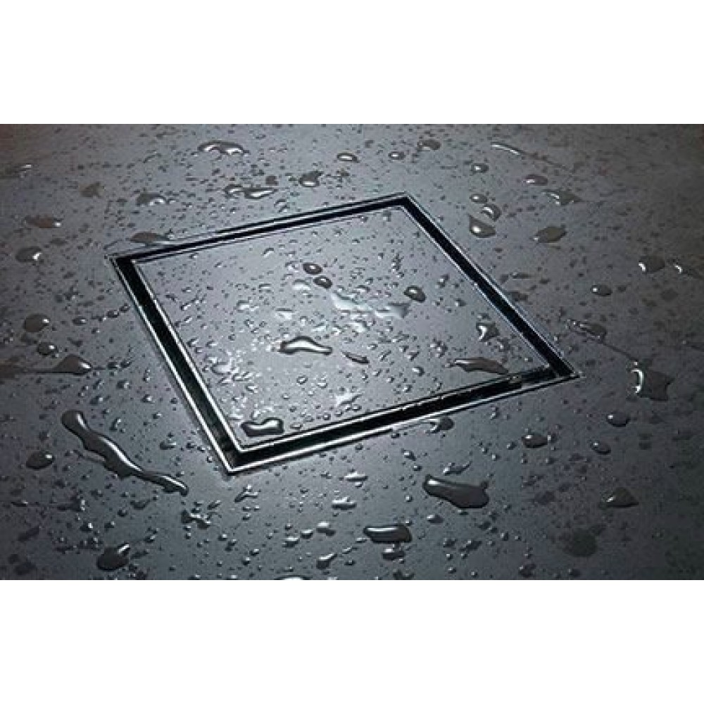 CONFLUO Dry 2 15x15 cm Квадратен с Плочка сифон за под с воден затвор