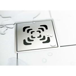 CONFLUO Square 2 15x15 cm Квадратен сифон за под с воден затвор