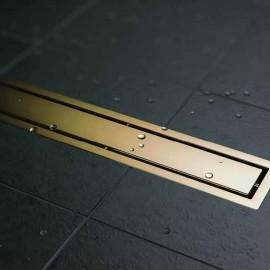 CONFLUO LINE GOLD линеен сифон 30 cm със Златно покритие
