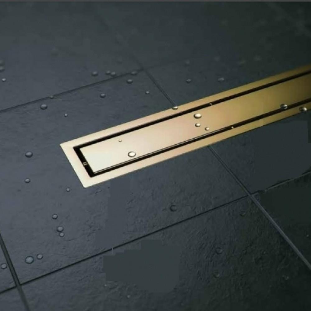 CONFLUO LINE GOLD линеен сифон 55 cm със Златно покритие
