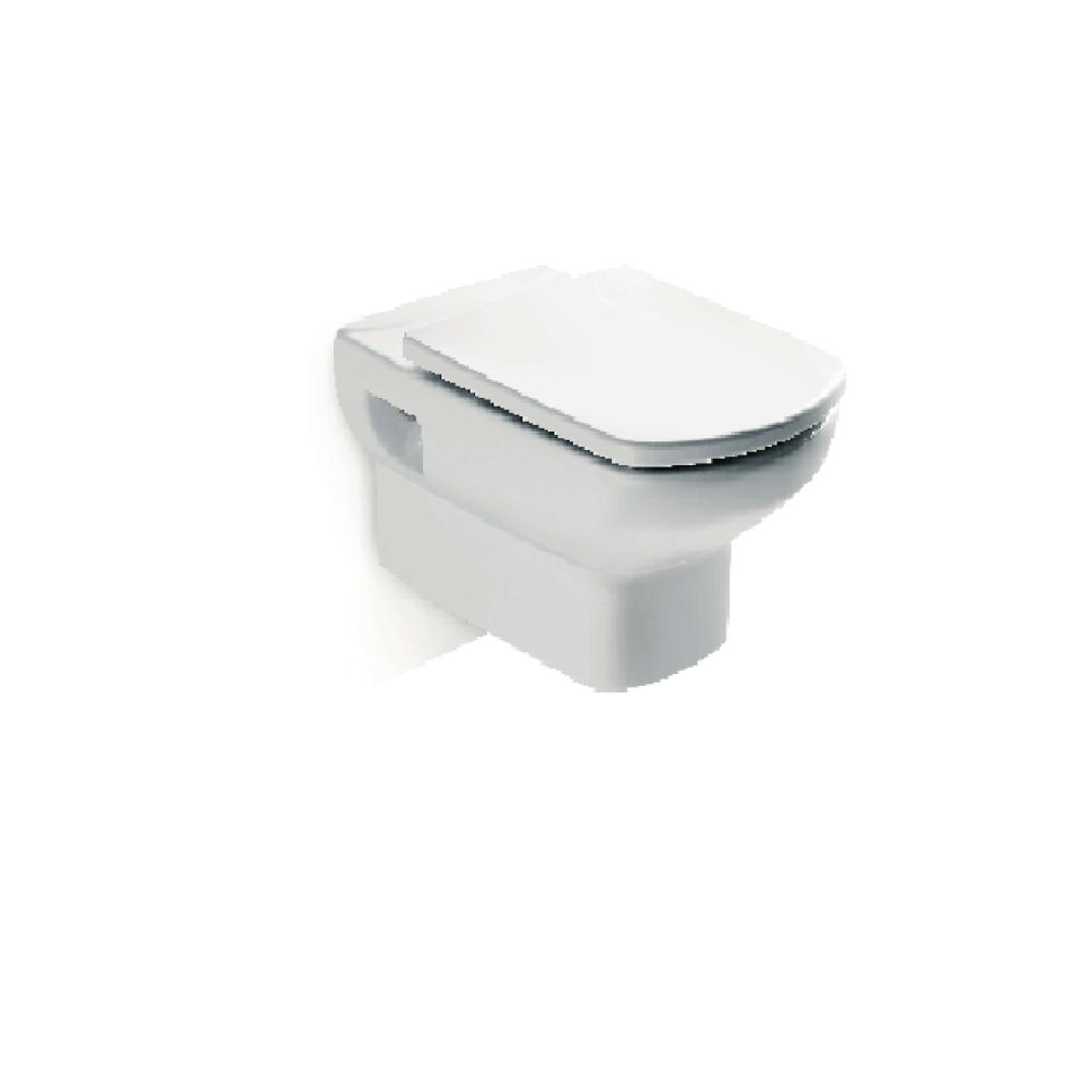 DAMA SENSO Стенна тоалетна със седалка и капак