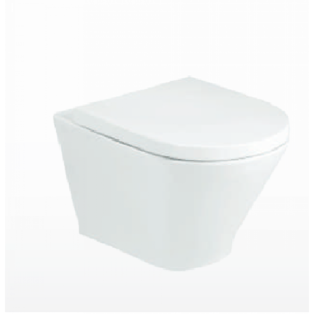 THE GAP ROUND безръбова стенна тоалетна SLIM капак плавно падане