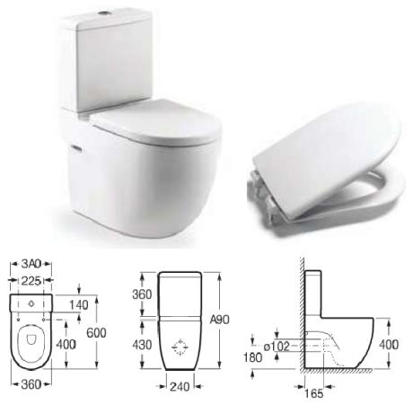 MERIDIAN COMPACT Моноблок със седалка и капак