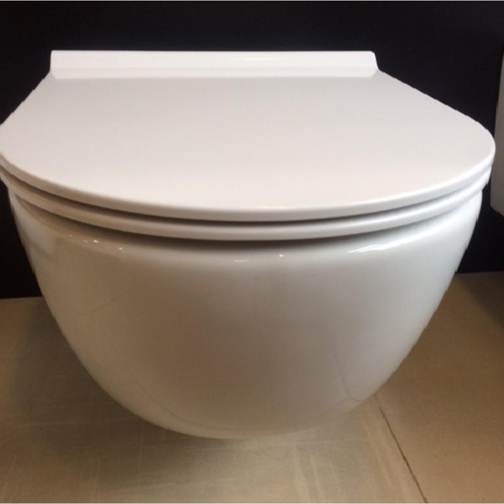 Стенна тоалетна MERIDIAN 56 cm с тънък капак плавно падане