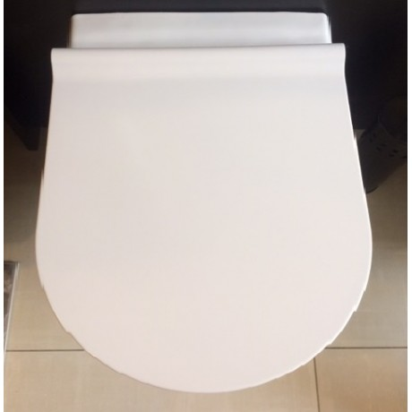 MERIDIAN стенна тоалетна с тънък капак плавно падане