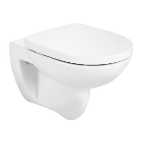 DEBBA ROUND промо тоалетна без ръб, плавен капак и казанче ACTIVE с бутон хром