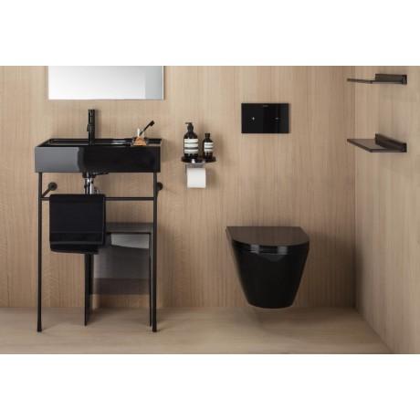 Черна стенна тоалетна KARTELL by Laufen, без ръб