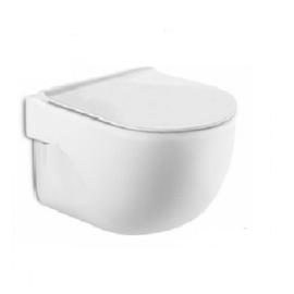 MERIDIAN RIMLESS стенна тоалетна с тънка седалка и капак плавно падане