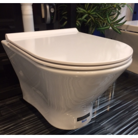 NEXO стенна тоалетна с тънък капак плавно падане