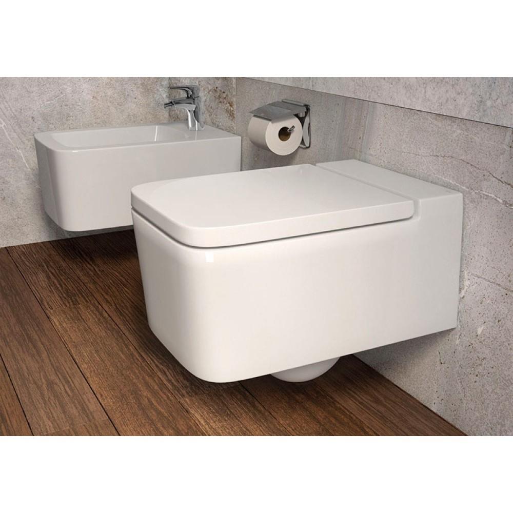 INSPIRA Square RMLS Стенна тоалетна с плавно затваряне