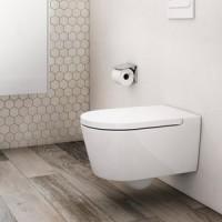 INSPIRA Round Стенна тоалетна с капак и седалка със забавено падане
