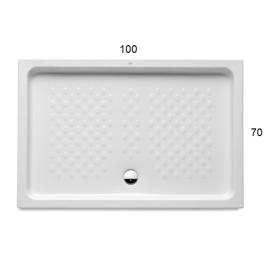 ITALIA Правоъгълно порцеланово душ - корито 100 x 70