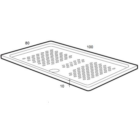 ITALIA Правоъгълно порцеланово душ - корито  ROCA 100 см x 80 см