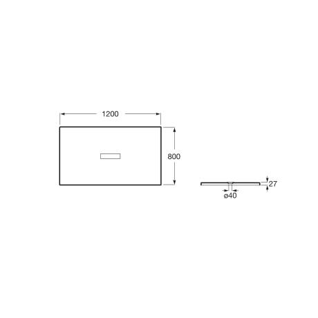 HELIOS 120x80 душ-корито от технически камък