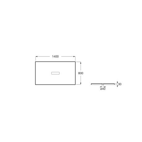 HELIOS 140x80 душ-корито от технически камък