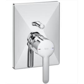 CARELIA вграден смесител за вана и душ с квадратна форма