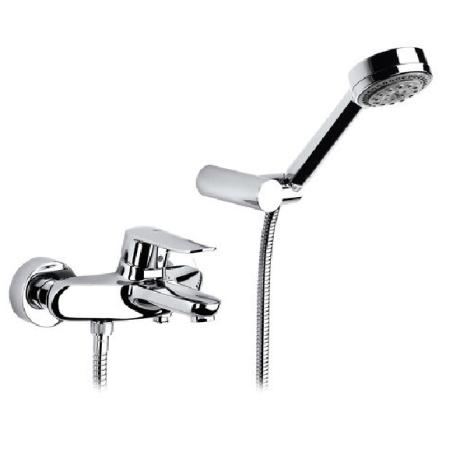 LOGICA смесител стенен за вана и душ с аксесоари