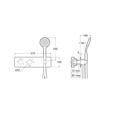 PUZZLE термостатичен смесител за вграждане