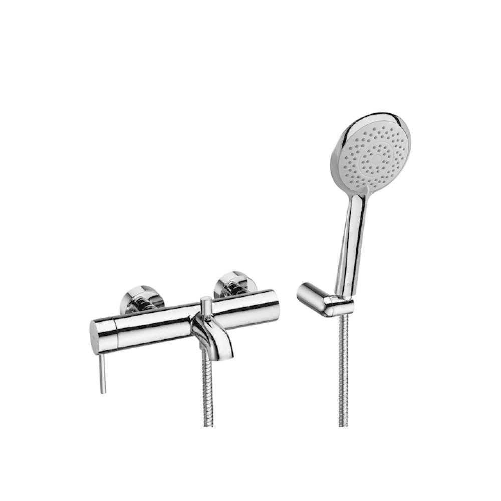 Lanta външен смесител за вана-душ с автоматичен превключвател, душ слушалка, шлаух и държач