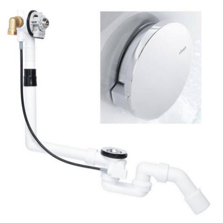 Сифон за вана автоматичен хром VIEGA със система за пълнене
