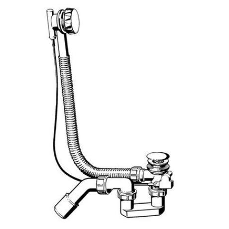Сифон автоматичен хром за акрилна вана