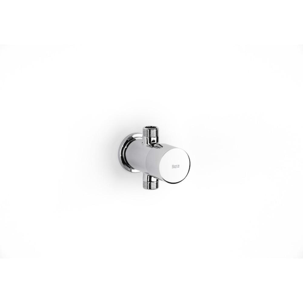 SPRINT Времезатварящ прав стенен кран за писоар + външна тръба за писоар
