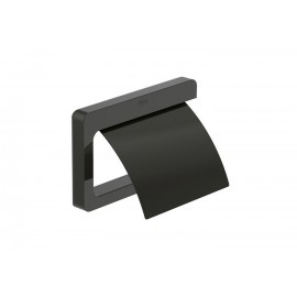TEMPO Поставка за тоалетна хартия с капак Titanium Black