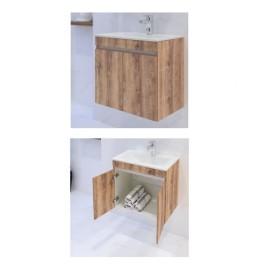 Мебел за баня с две врати и умивалник ELW 55