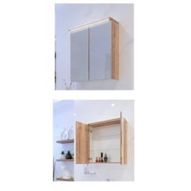 Мебел за баня с LED осветление и стъклени врати ELW 55