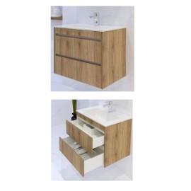Мебел за баня с две чекмеджета и умивалник EMW 65