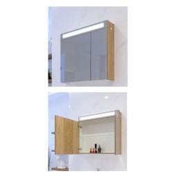 Мебел за баня с две врати и LED осветление EMW 65