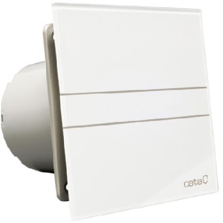 Вентилатор за баня E-150 G, бяло стъкло ф150