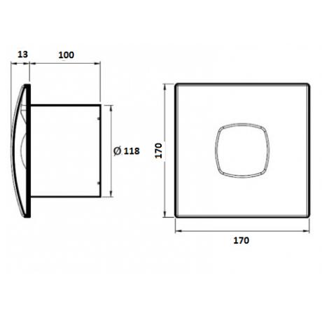 Вентилатор за баня с клапа, бял SILENTIS Ф 120