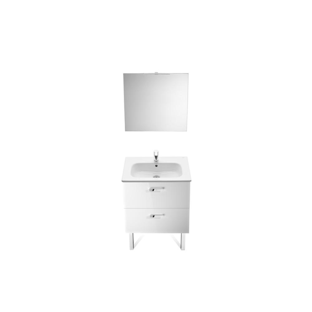 Victoria Basic Pack Мебел за баня с умивалник, огледало и аплик 60