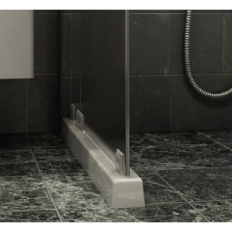 Праг за душ-параван прав 100 бял