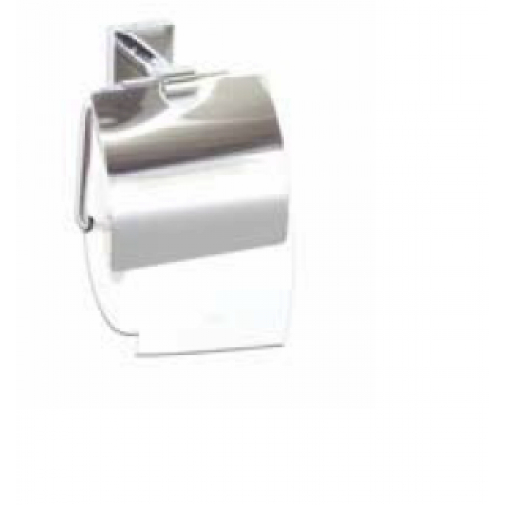 QUARZ стенна поставка за тоалетна хартия с капак.
