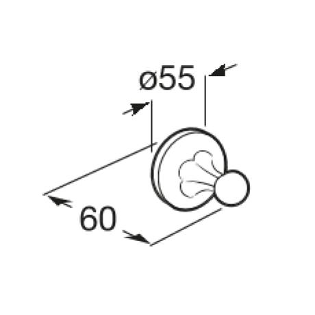 CLASSICA Единична закачалка за кърпи